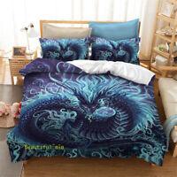 Blue Dragon Single/Double/Queen/King Quilt/Doona/Duvet Cover Set Pillow Case