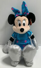 """New listing New Ty Beanie Baby Disney Minnie Mouse Sparkle Doll Blue Pink Silver 8"""" Toy"""