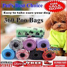 360 Pet Dog Puppy Cat Poo Poop Bag Disposable Bag Clean Pick Up Plastic Poo Bags