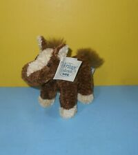"""New small 8"""" Heritage Collection Ganz Brown & Cream Horse Stuffed Plush """"Cleo"""""""