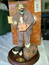 "Real Rags Emmett Kelly Flambro ""Watch the Birdie"". Nib With Certificates"