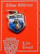 Souvenir Bettelarmband Anhänger Wappen ♥  SEEHUND INSEL SYLT ♥ Charm OVP NEU 872