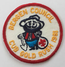 Boy Scouts BSA 1981 Bergen Council Cub Gold Rush Flag Embroidered Patch