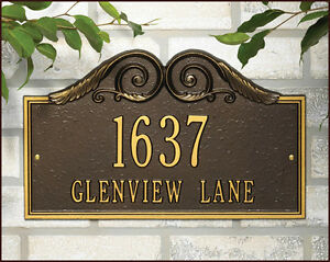 Whitehall Personalized Versailles Address Marker Personalized Plaque 17 Colors
