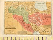 c1880 MAP ~ ASSYRIA CHALDAEA MEDIA BABYLONIAN EMPIRES