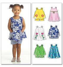 McCall's 5416 Sewing Pattern to MAKE Cute Toddler Tops Dresses Shorts Age 1-4 os