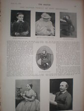 Photo article the clever family of Dion Boucicault 1899