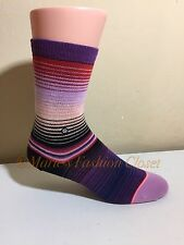Big Kid STANCE Cotton Cushioned Athletic Crew Socks Stripes Youth M Shoe Sz 11-1