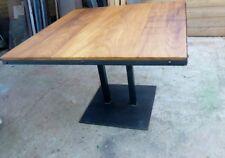Table meuble industriel pied central bois & métal loft sur mesure