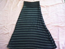 A-Line Striped Long Skirts for Women