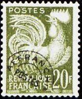 """FRANCE PREOBLITERE TIMBRE STAMP 113 """" TYPE COQ GAULOIS 20F """" NEUF (x) TB"""