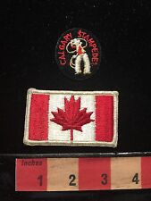 Canada Patch Lot ~ Canadian Flag And Calgary Stampede 67A