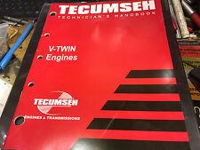 TECUMSEH V-TWIN SMALL ENGINE PARTS TECHNICIANS HAND BOOK REPAIR MANUAL SHOP BOOK