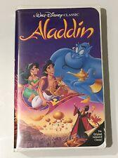 1 RARE Aladdin (VHS 1993) Walt Disney's Black Diamond Classic