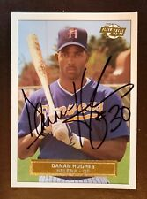 DANAN HUGHES Iowa Hawkeyes / Helena Brewers Baseball 1992-93 SIGNED / AUTO Card