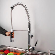 Modern He Chrome Brass Kitchen Sink Pull Out Spray Faucet Mixeur TAP Hot