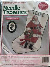 Needle Treasures Counted Cross Stitch Classic Santa Stocking Bonus Ornament