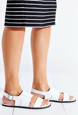 NEW KDB Kelsi Dagger Panther White Leather Sandals Size 7