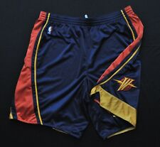 GOLDEN STATE WARRIORS Team Issued Pro Cut Shorts Thunderbolt Reebok Blue 50+2