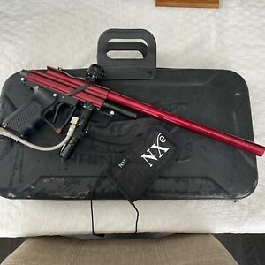 Diablo AR-1 Paintball Marker Electric Red Black - Marker And Barrel And Case
