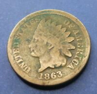 1863   Indian Head Penny   Cent  #IC1863
