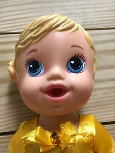 2014 Baby Alive  Blonde Molded  Hair Drink & Wet Doll
