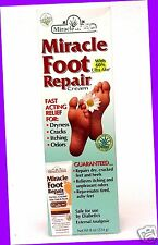 1 Miracle of Aloe Foot Repair Cream Fast Acting Relief for Cracks Itch Odor Dry