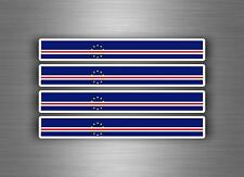 4x sticker decal car stripe motorcycle racing flag bike moto tuning cape verde