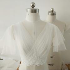 Wedding Women Jacket Lace Applique Topper White Ivory Plus 6 8 10 12 Size Custom