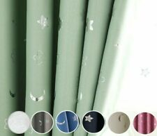 Cloth Curtain Bedroom Living Room Window Blackout Cotton Stars Moon Home Decor