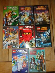 Lego Ninjago/Star Wars  Dvd Bundle Of  8 dvd's