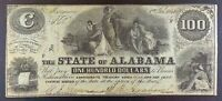 1864 Confederate State of Alabama $100 Banknote.