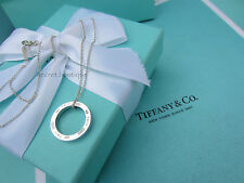 "AUTHENTIC Tiffany & Co. 1837 Small Round Pendant Necklace 16""  (#576D)"