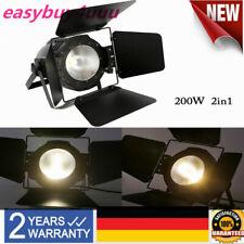 200W COB LED Weiß Warmweiß 2in1 DMX Bühnenbeleuchtung Par Licht Studioleuchte
