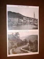 Isola di Samo nel 1912 Porto di Vathy e Maratocampo
