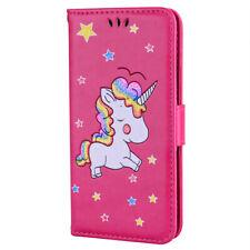 Patrón de Unicornio Cuero Billetera Tarjeta De pie Estuche Cubierta Para Huawei P20 P30 Mate 20