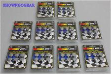 CHROME 9/16 DRESS UP METAL BOLT CAPS MR GASKET 60 PIECES HOTROD DRAG HOLDEN FORD