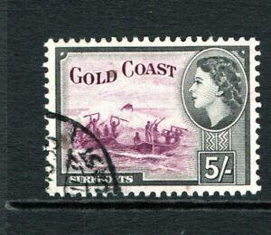 1952 QEII Gold Coast (Ghana) 5/- (SG 163) USED