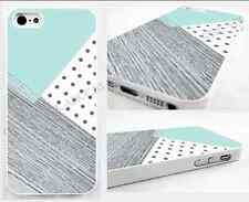 thin case,cover for iPhone,iPod>,mint,retro,Polka Dot,wood,geometric design