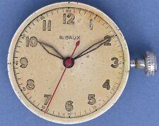 Ribaux AS 1194 40s Vtg 15j Movement Radium Dial Good Balance Staff Parts/Repairs