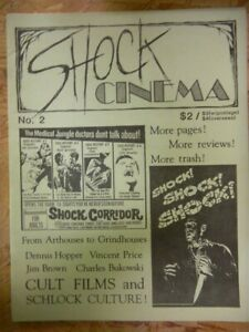 SHOCK CINEMA MAGAZINE ISSUE NO.2 1994 VF STEVE PUCHALSKI GRINDHOUSE ARTHOUSE