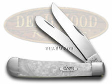 CASE XX White Pearl Large Trapper Pocket Knife Knives
