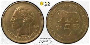 1936 BELGIAN CONGO 5 Franc PCGS Details