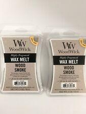 2 Wood Smoke WoodWick Hourglass 3 oz Wax Melt, free USA shipping