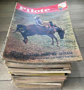 Lot de 122 Numéros du JOURNAL PILOTE de 1962, 1964, 1965 et 1966 / 12 photos