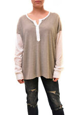 Wildfox Women's Authentic Ronnie Henley Shirt Grey Size S RRP £89 BCF84