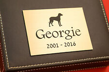 Engraved Pet Memorial Plaque For Dogs, Cats, Horses in Silver or Brass Effect