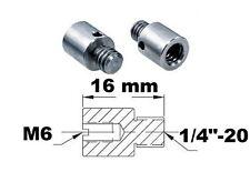 "Adaptateur de filetage M6 1/4""-20 Thread adapter adaptor metric imperial mf fm"
