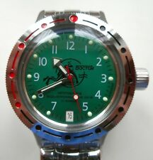 RUSSIAN DIVER WATCH VOSTOK AMFIBIAN Automatic WR20 Steel Case #420386 NEW