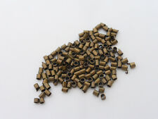 500 x Brass Tube Crimp Beads 2mm x 1.2mm Antique Bronze, NF, Findings  (MBX0054)